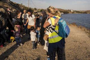 Volunteers Offer Comfort to Arrivals in Lesvos