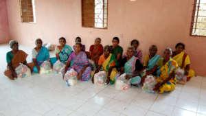 Neglected elders receive food groceries