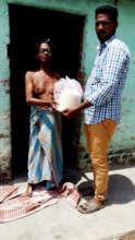 Lepers cured receiving food groceries