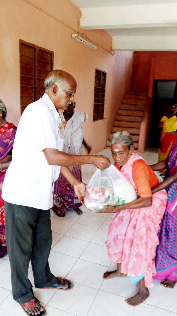 Food Groceries to 78 Neglected Elder,Leper Cured