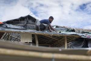 A desperate effort to reinforce shelters