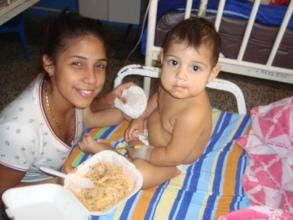 Mother & baby get lunch delivered at hospital
