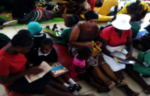 Children enjoying the opportunity to read