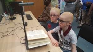 Visually impaired twins are now able to read