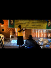 Gladys, CHHRP Speaking about dangers of FGM