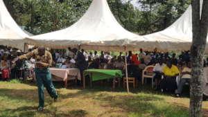 Pastor speaking on behalf of the church.