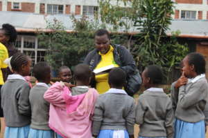 Small mentoring groups at Getri Primary school