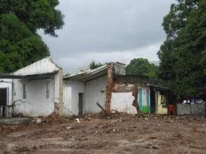 Destroyed homes at Tonala, Chiapas