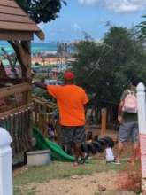 Montessori Dads oversee the joyful return of kids