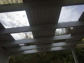 Hurricane damage to St. Croix Montessori roof