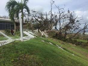 Hurricane damage to outside grounds