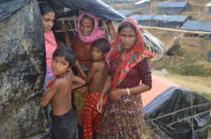 Rohingya refugee family
