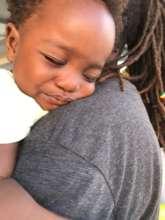 Baby leaving Barbuda