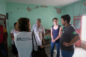 Our team speaks with survivors in Ixtepec, Oaxaca