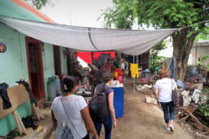The team visits families to discuss needs, Ixtepec