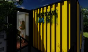 Rendering of a future Casa de Salud