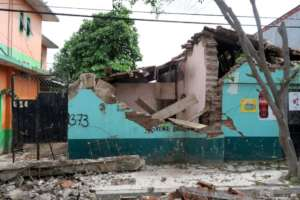 Damage from the September 7 earthquake in Ixtepec