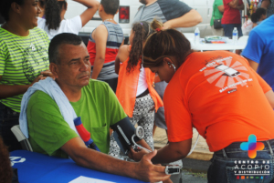 Health services are provided to community members