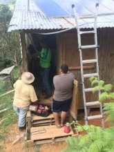 Solar panel installation at a home in Adjuntas, PR