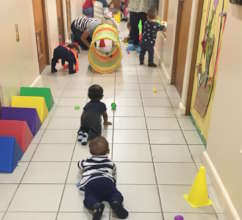 Kids from 2 months to 3 years received day care.