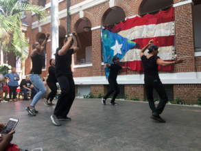 Dance performances were offered to the public