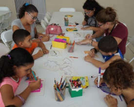 Art workshops were provided to various communities
