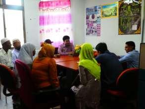 Meeting at the Rohingya Center