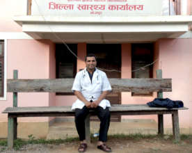 Dr. Jha, district health officer & senior surgeon