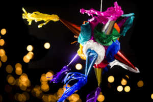 Pinatas - a longstanding custom in Mexico