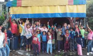 Tihueliske Children Raise their Toothbrushes!