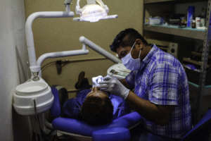 Good dental care helps, even in a small clinic