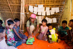 A BRAC child friendly space in Cox's Bazar