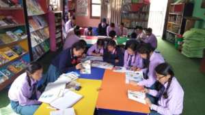 children enjoy pictorial books