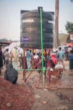 Water tank for safe drinking water