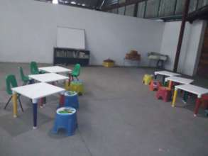 One of our temporary classrooms