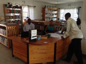 Inside the Jifundishe Free Library