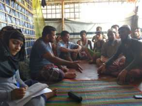 a community listening group in Cox's Bazar