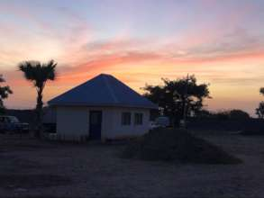 Sunset at WFSS compound in Wau, South Sudan