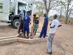 Team repairing Mbili PHCC well