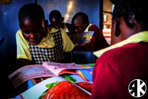Students at Valley Learning Centre's New Library