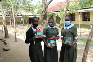 New stationery for the students at Nang'a Primary