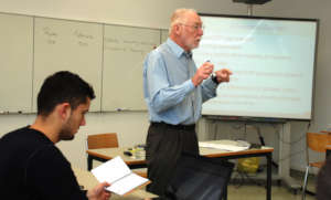 Professor David Harries teaching Microeconomics
