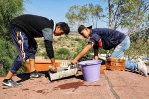 Students organize to build a cistern