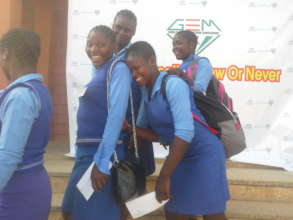 GIRLS EXPRESSION OF JOY AND HAPPINESS OVER SUPPORT