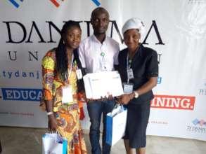 GEM Team members with Grant Award Certificate