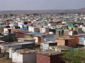 View over Mamelodi, home to the children.