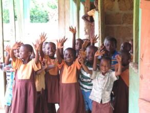 Children in school at a village in Ghana
