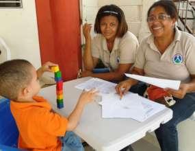 Delfina teaching developmental screening