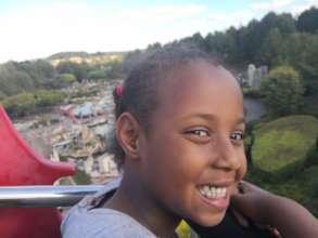 Happy Child at the Legoland trip