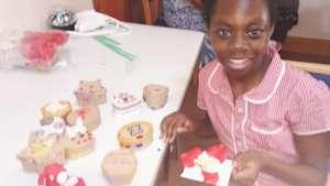 Children making decoration